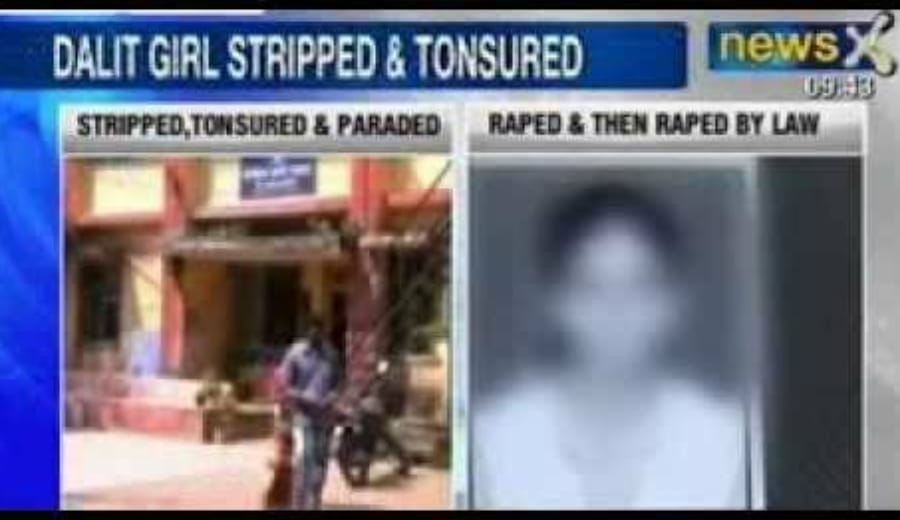 Tribal girl stripped, tonsured for marrying out of caste