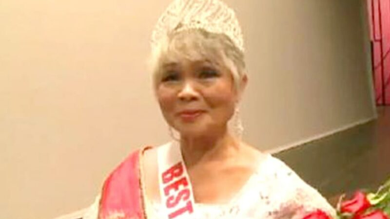 71-YEAR OLD GRANDMOTHER WINS BEAUTY PAGEANT!