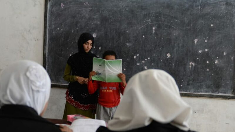 Afghan girl scarred in acid attack now a teacher