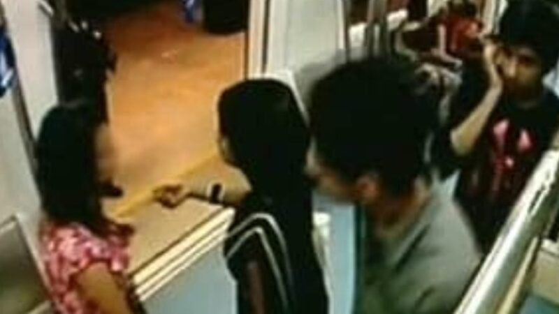 Girl sexually harassed in the metro