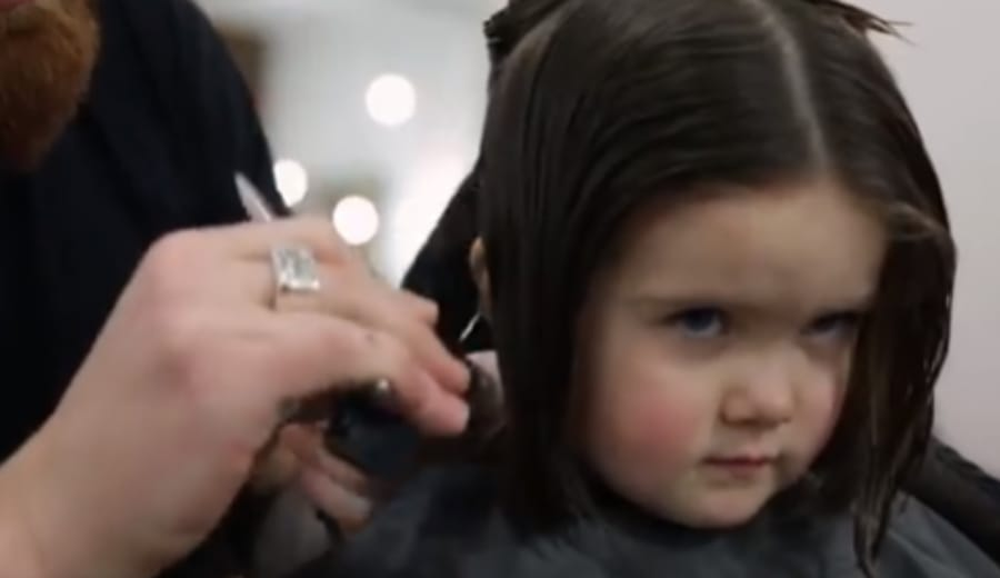 3-year-old Emily James donates hair to Cancer Charity