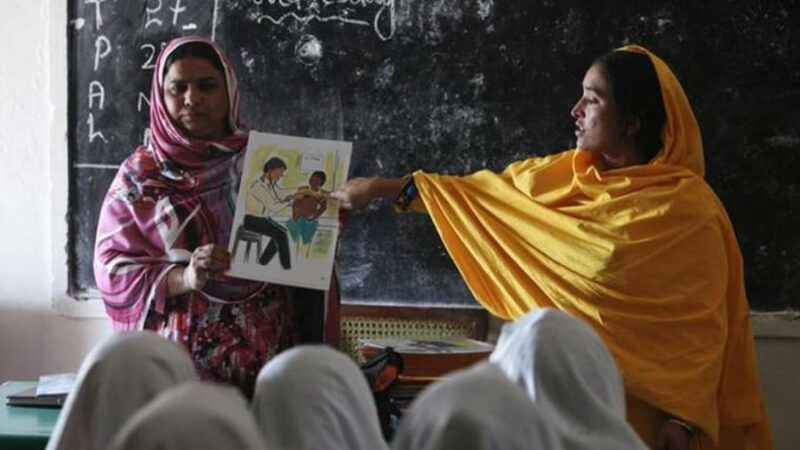 Pakistani village gives girls pioneering sex education class!