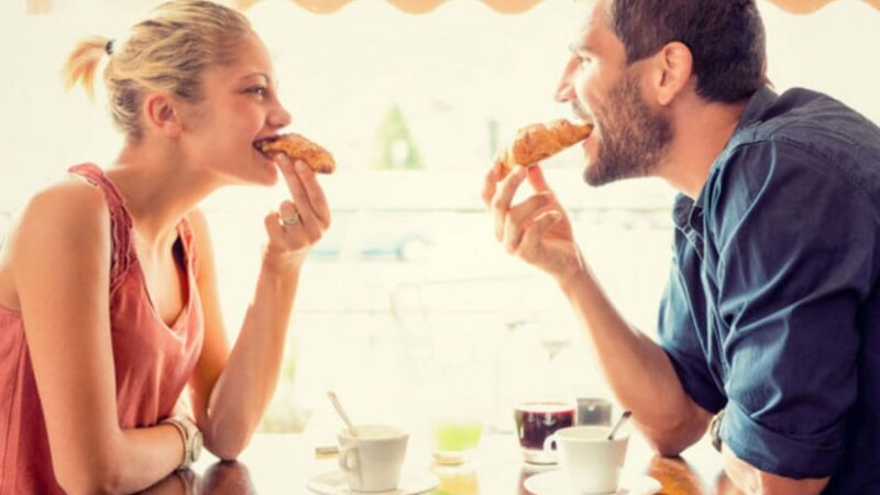 The way to a woman's heart is also through her stomach!