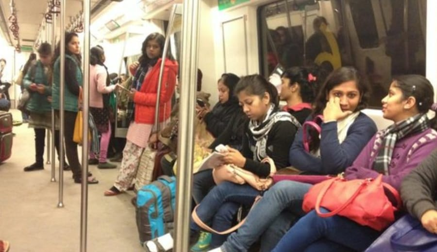 Life of  a Woman in Delhi Metro