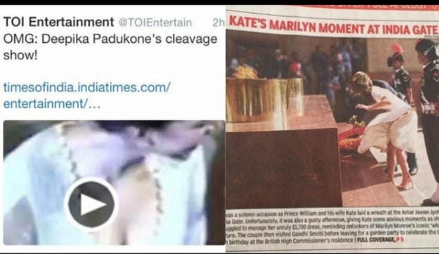 Eve Teasing of a different kind; Times Of India gets a slap on its face – Kudos to Deepika!