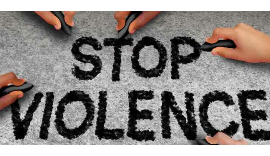 'End the silence, Stop the violence'