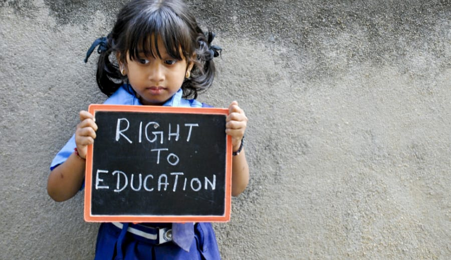 """""""Education is my birth right"""""""