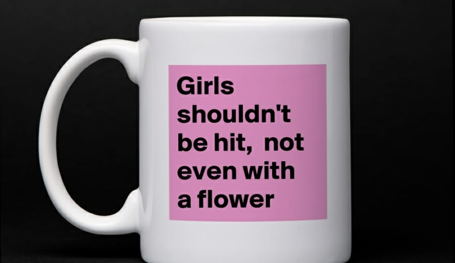 """""""Girls shouldn't be hit, not even with a flower"""""""