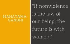 mahatama gandhi quotes on women