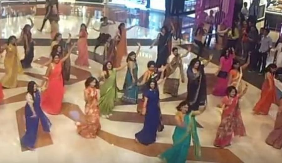 Women In Delhi Did The Most Difficult Thing Possible—Danced In Sarees For A Flashmob