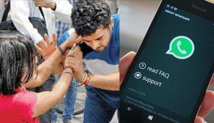 This is crazy! Girl thrashes her boyfriend for not giving Whatsapp-enabled 4G phone