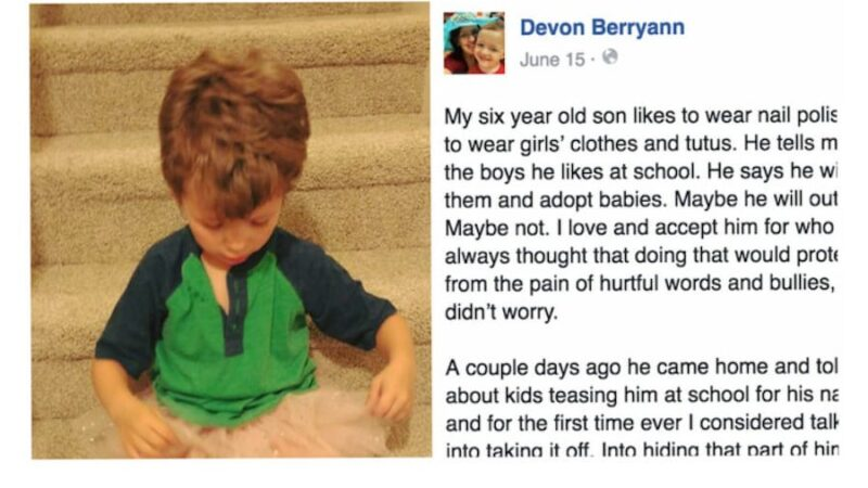 Mom Defends Son Who Wears Tutus and Nail Polish, Shows Him Acceptance