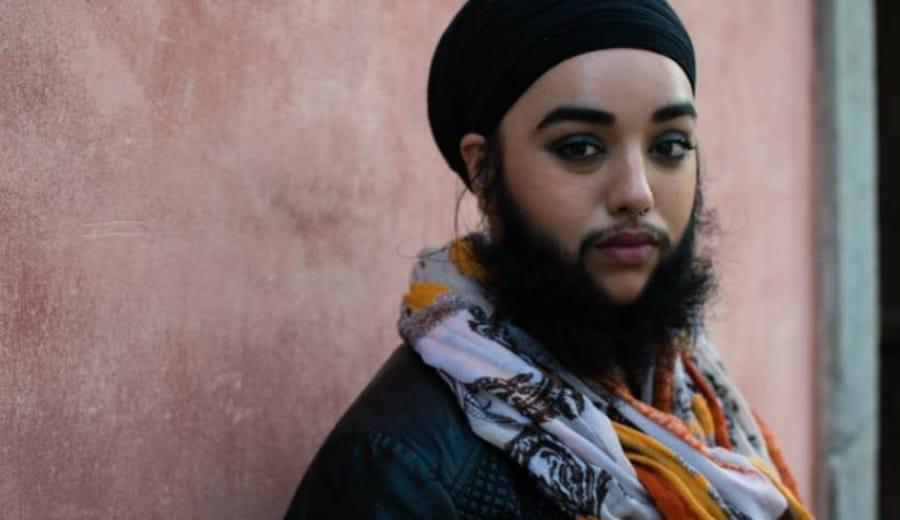 Women with Beard Break The Stereotypes. She Is Beautiful!
